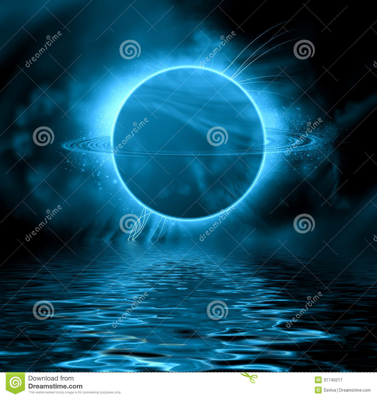 Blue Fantasy Planet. Royalty Free Stock Photography ...