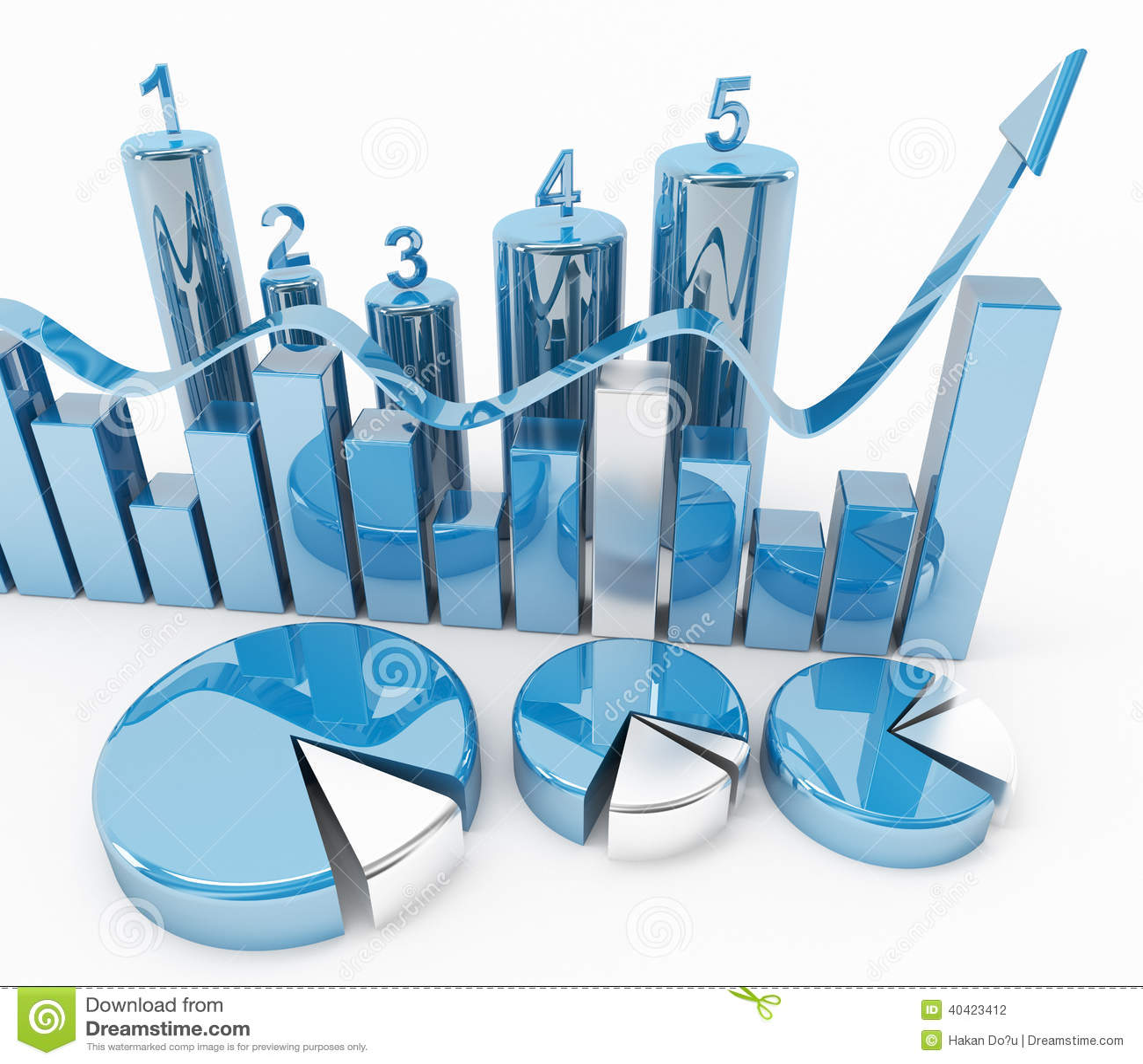 Finance Graphics: Blue Finance Graphics Stock Illustration. Illustration Of