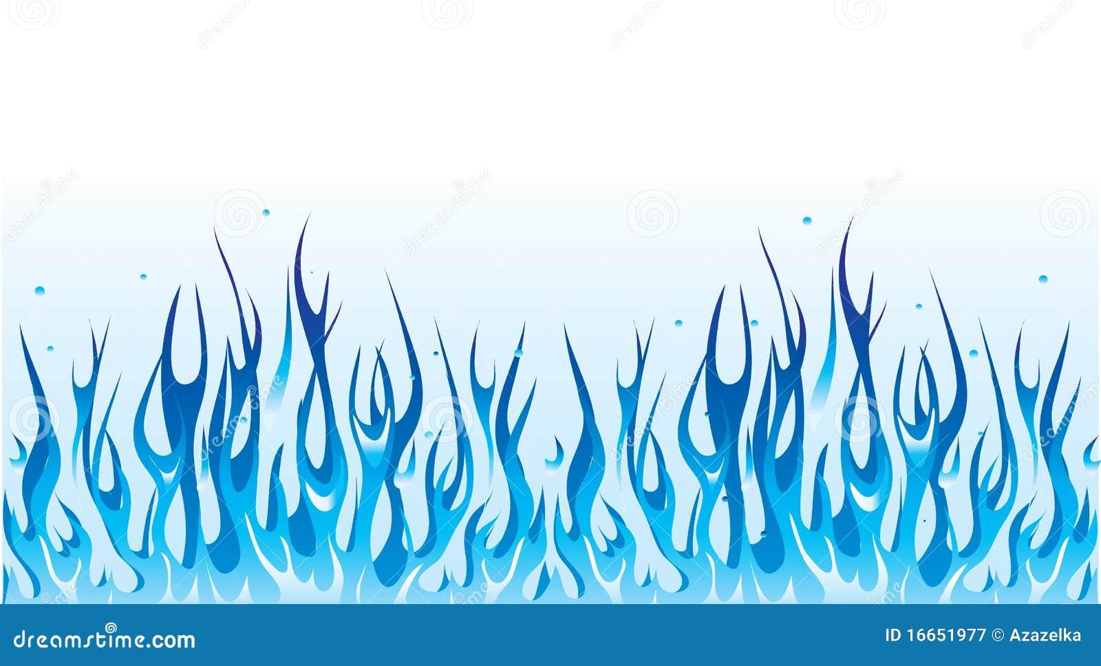 Blue fire border stock vector. Illustration of speed ...