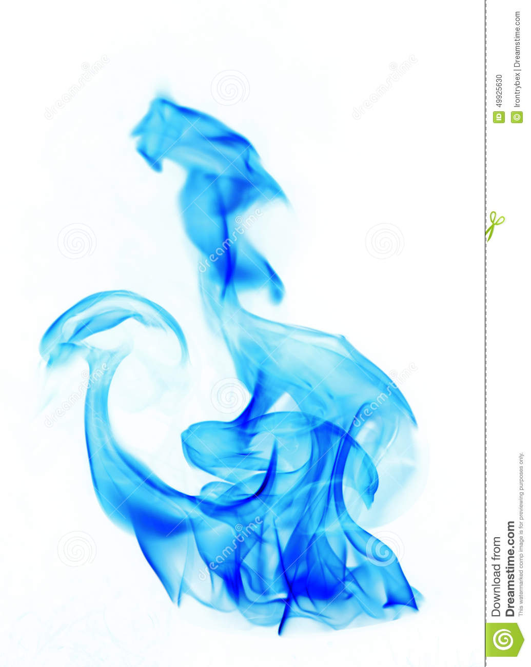 Blue Fire Flames Stock Photo - Image: 49925630