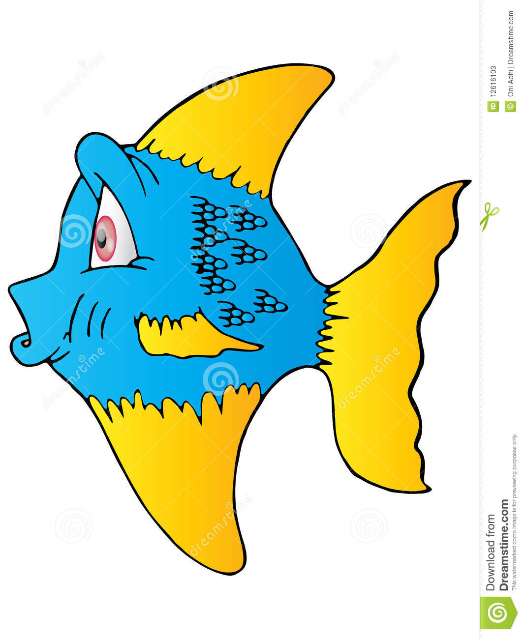 The Blue Fish Yellow Fin Stock Photos Image 12616103