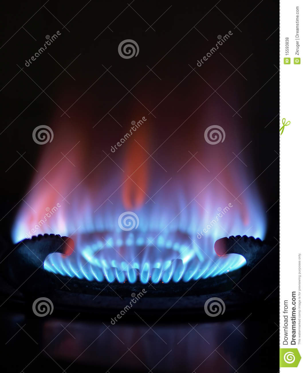 Blue Flame Kitchen: Blue Flame Stock Photo. Image Of Flame, Burner, Cooking