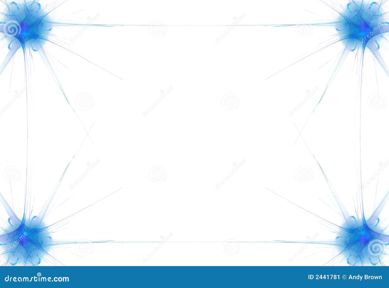 Blue Flame Border stock illustration. Image of fractal ...