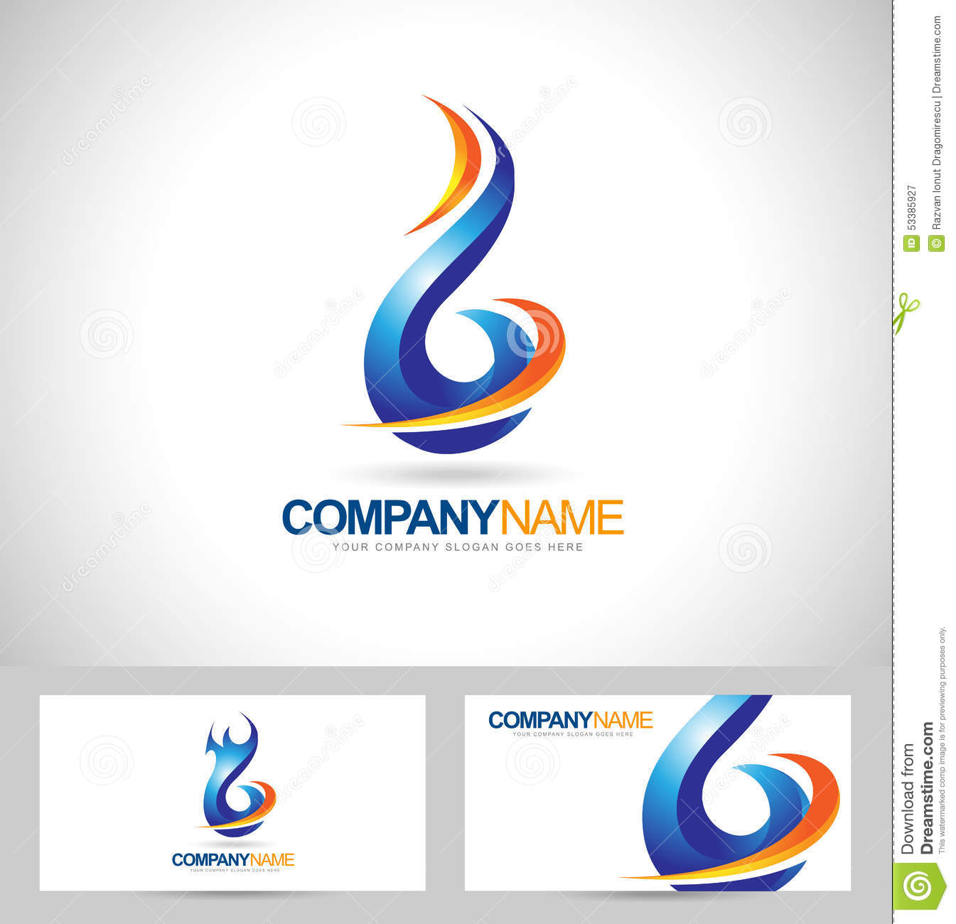 Flame stock illustrations 108862 flame stock illustrations blue flame logo concept design creative flame icon and business card template royalty free buycottarizona