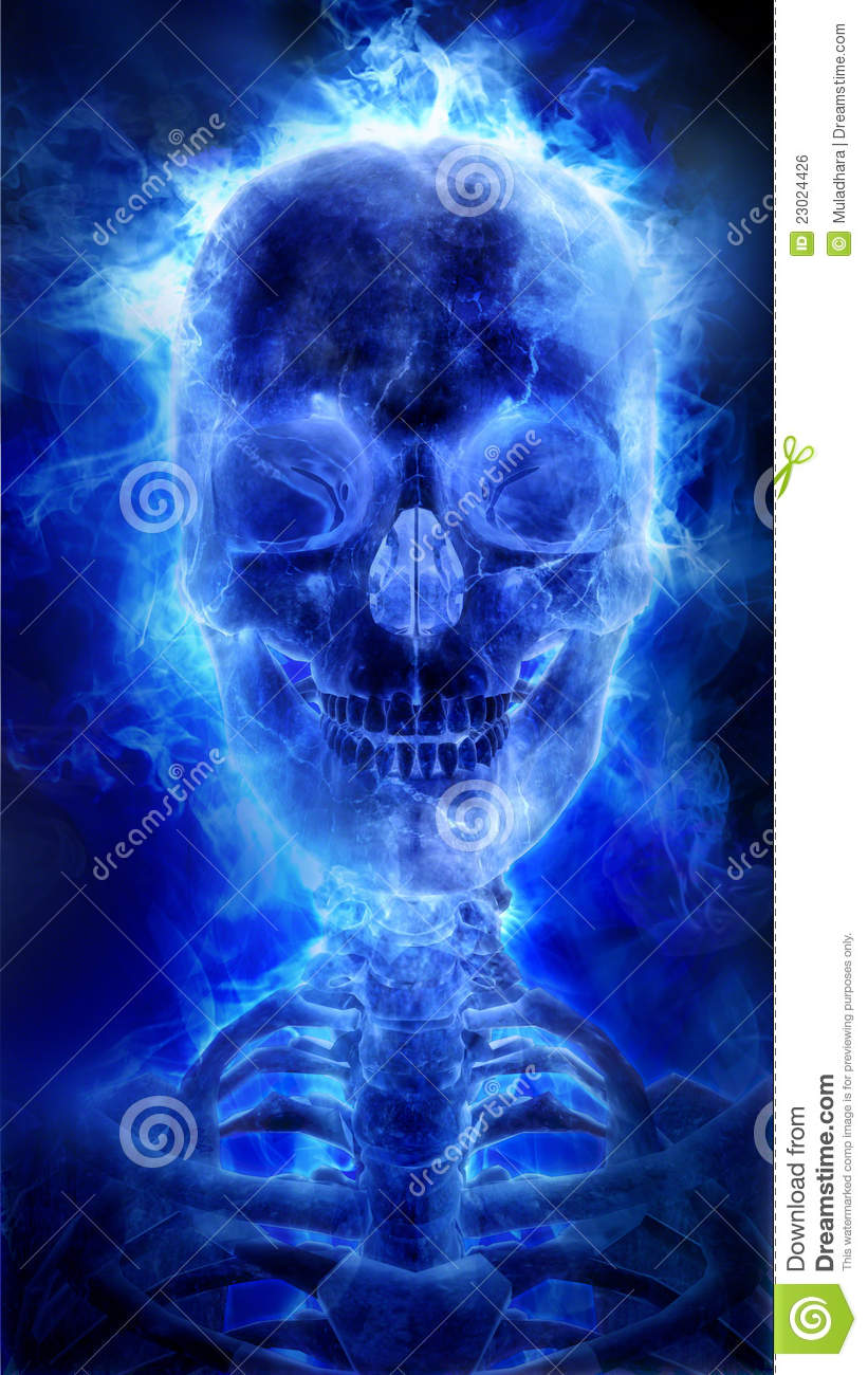 Blue Flaming Skull Stock Illustrations 37 Blue Flaming