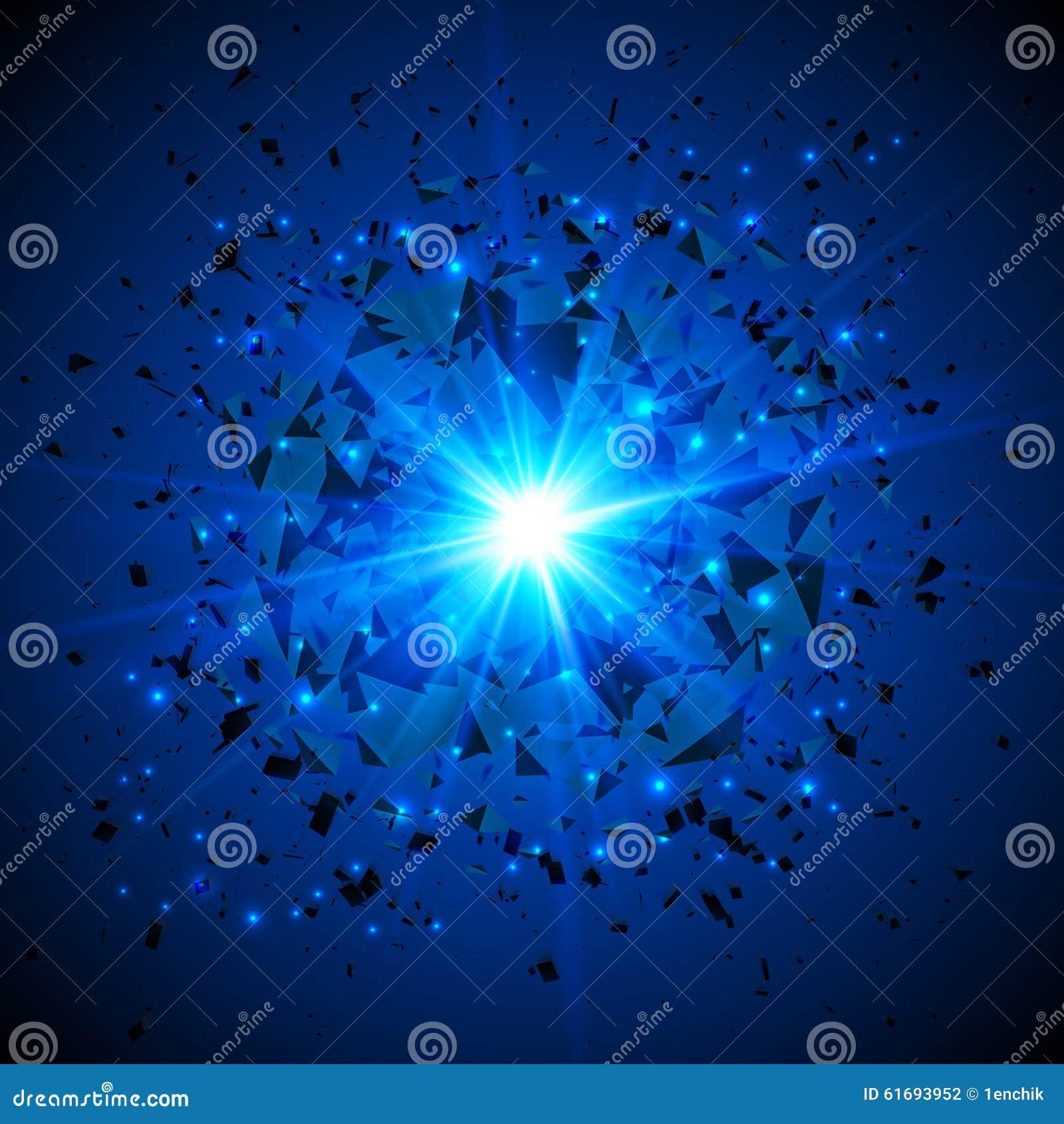 Blue Flaming Vector Meteor Cosmic Explosion Stock Vector ...