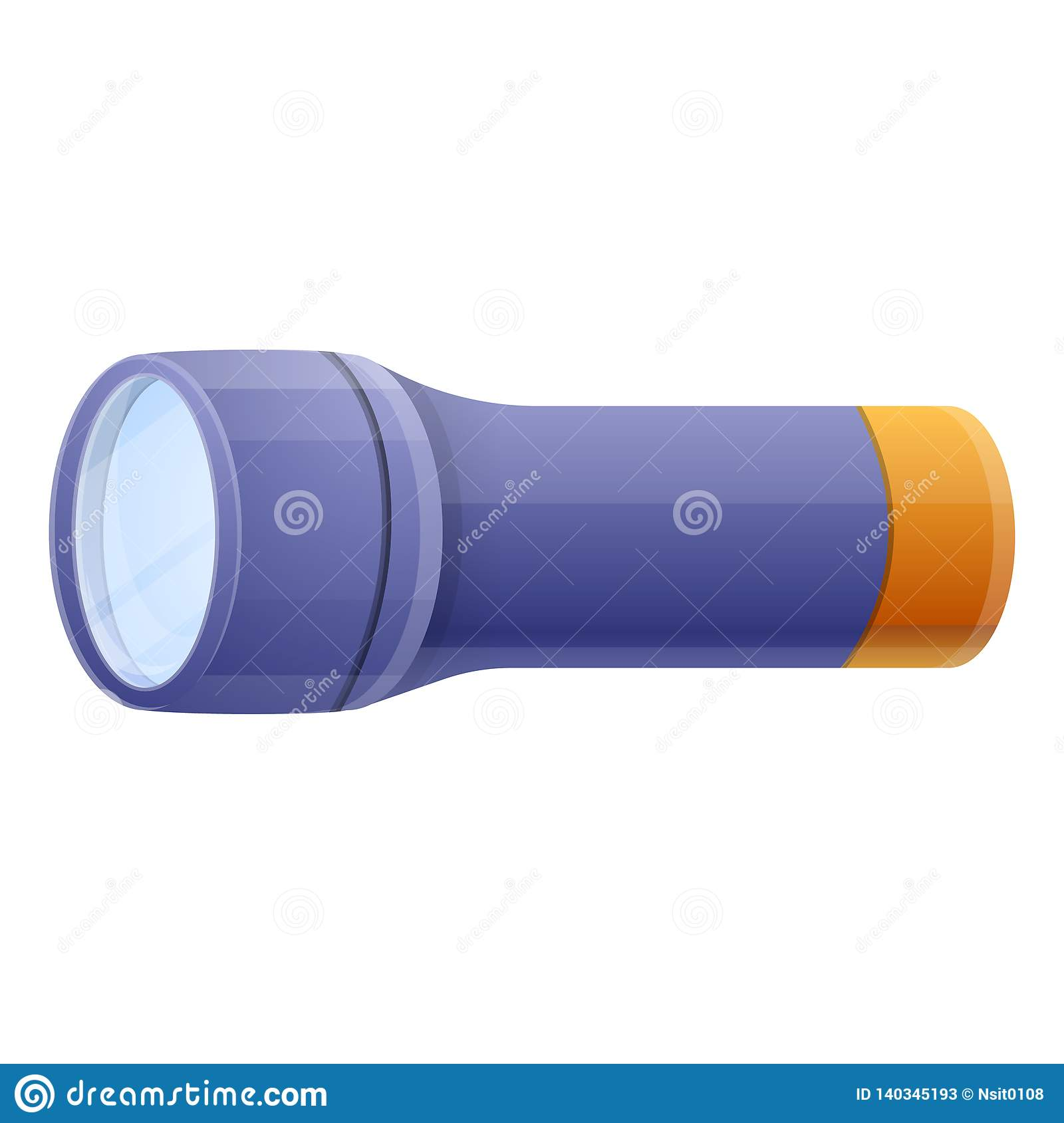 Red And Blue Flashlight Lighting The Green Surface Royalty