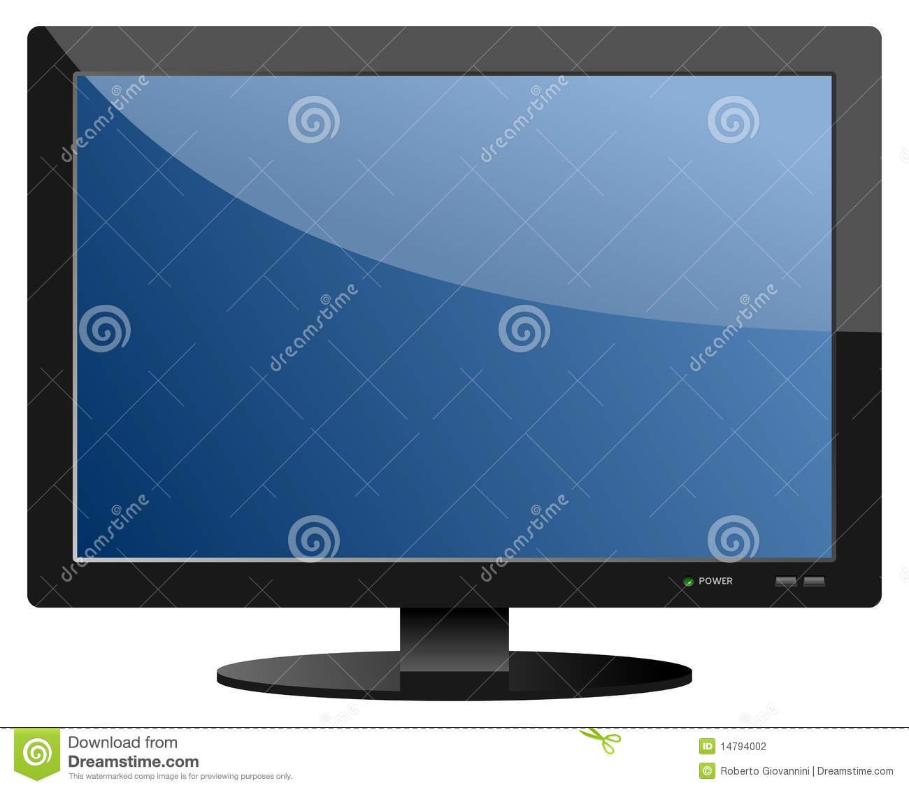 Blue flat screen tv set stock vector illustration of flat How to clean flat screen tv home remedies