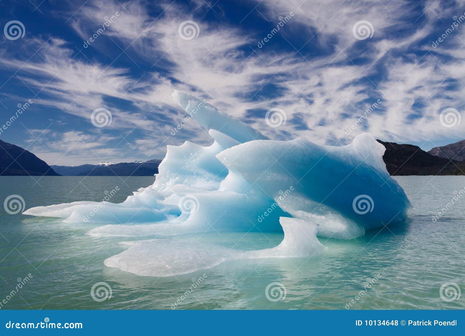 Blue Floating Iceberg