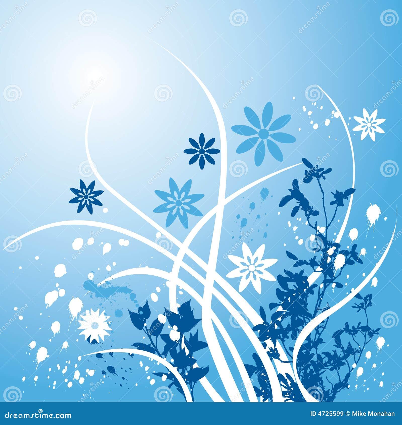 Blue Floral Background Stock Vector Illustration Of Plants 4725599