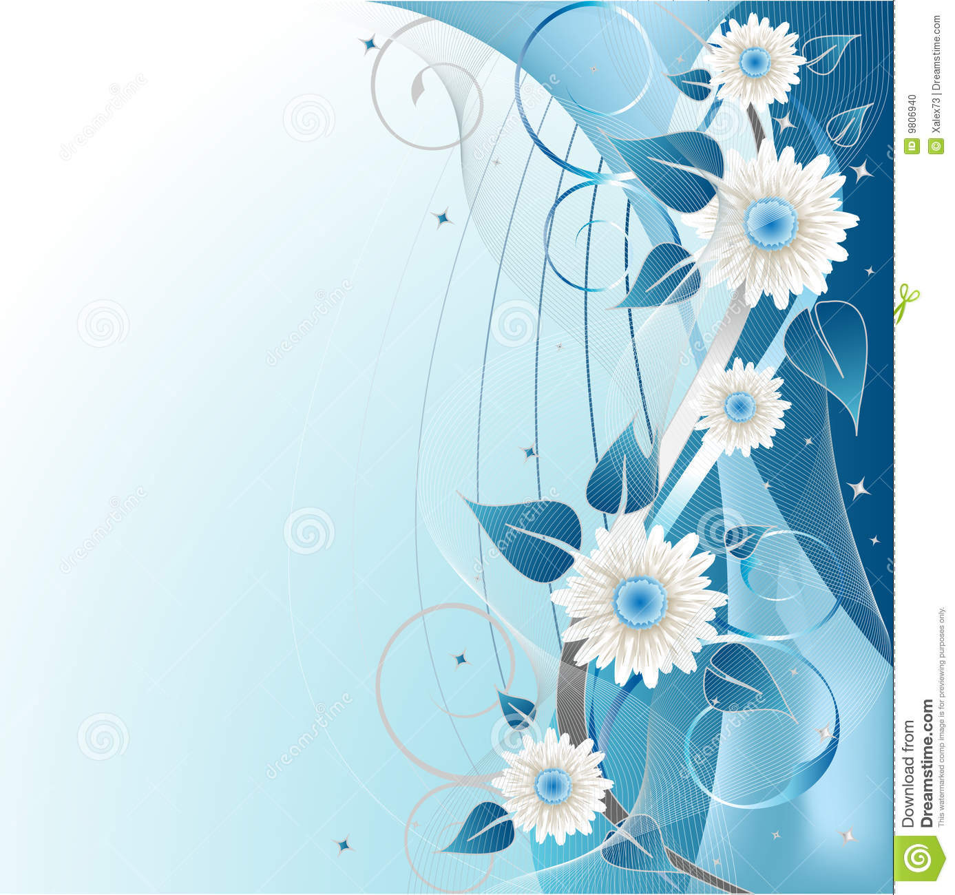Blue Floral Background Stock Vector Image Of Composition
