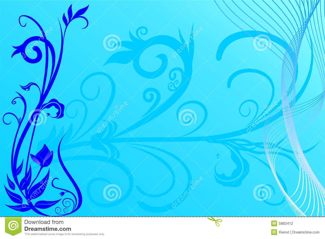 Blue flower background stock vector. Image of fashion