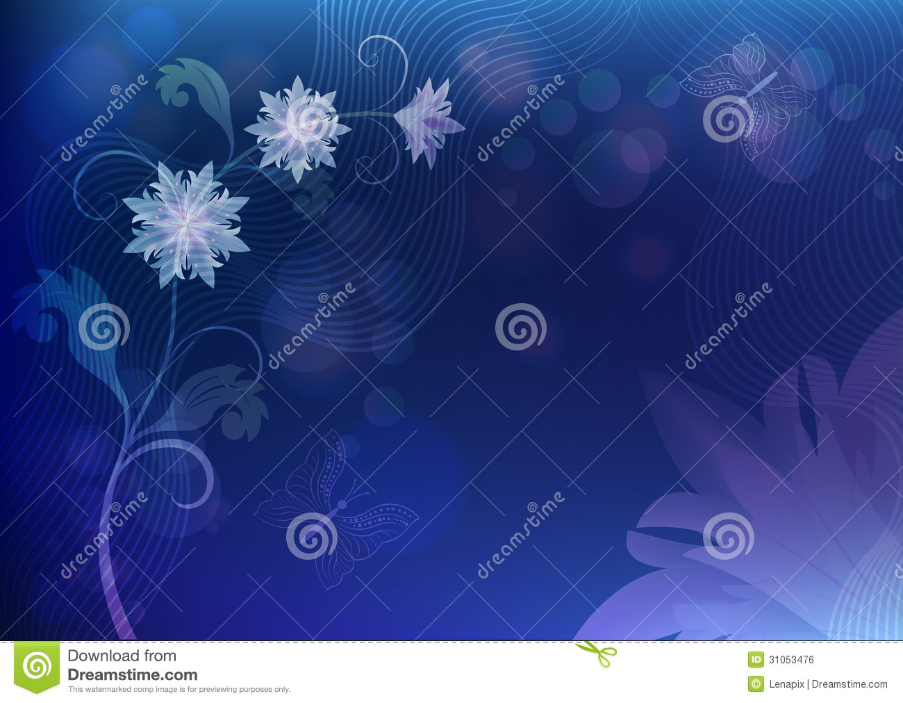 Blue flower background stock vector illustration of aroma 31053476 blue flower background izmirmasajfo