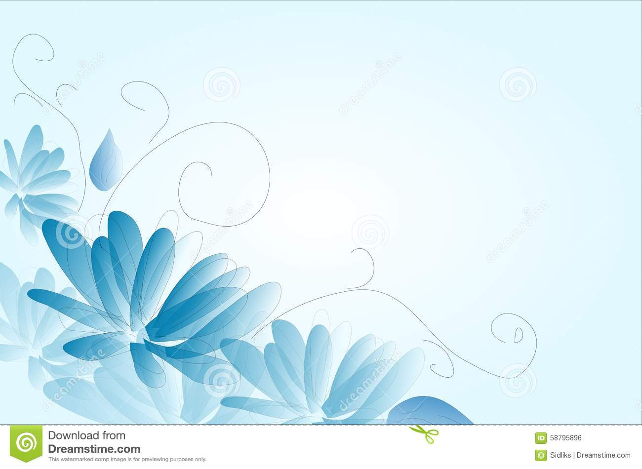 blue flower background stock illustration illustration of