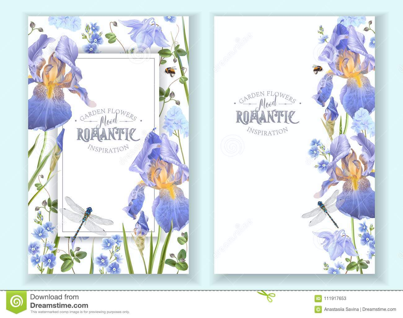 Blue flower banners stock vector illustration of background 111917653 blue flower banners izmirmasajfo