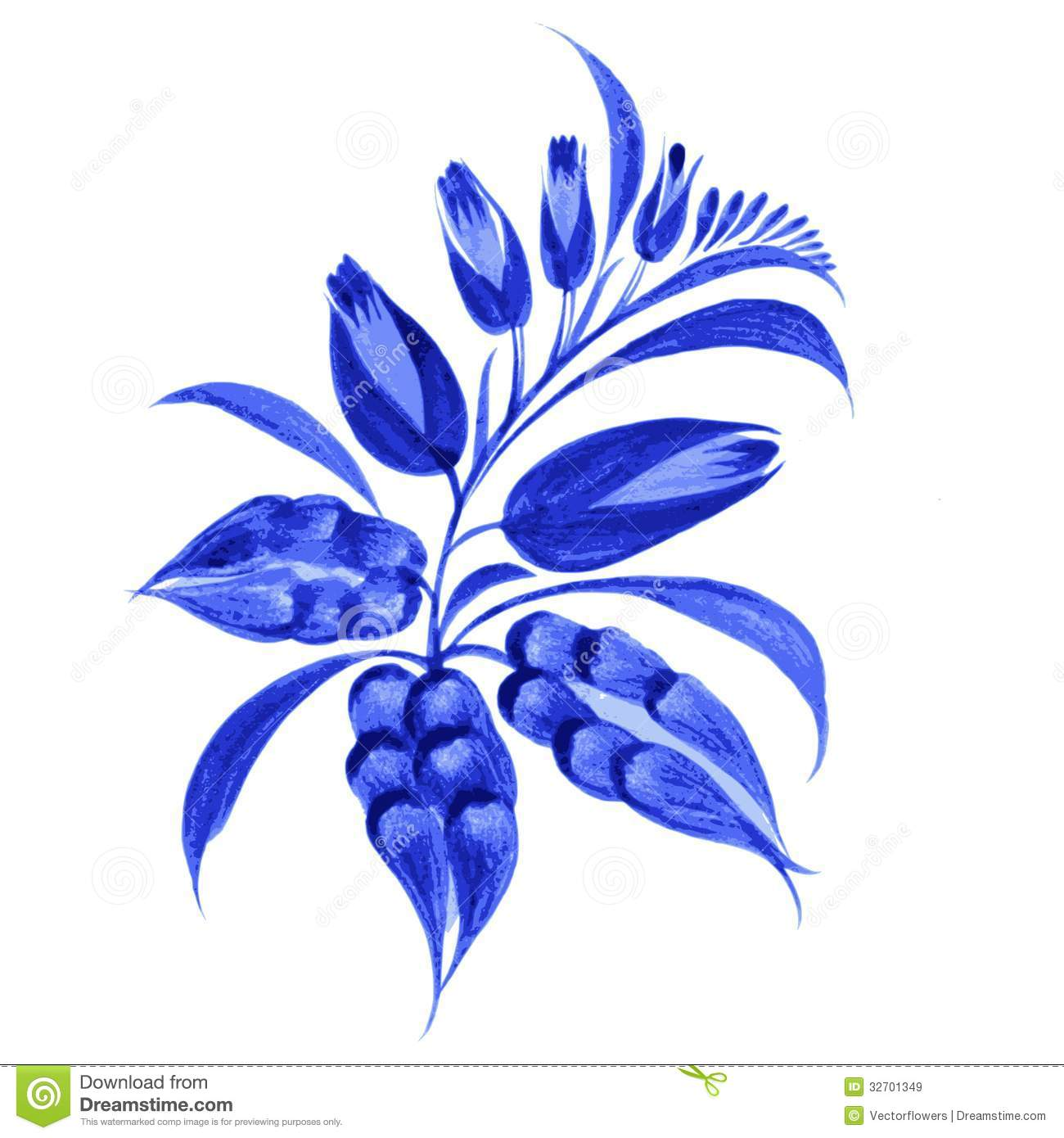 Blue Flower Composition Royalty Free Stock Images Image