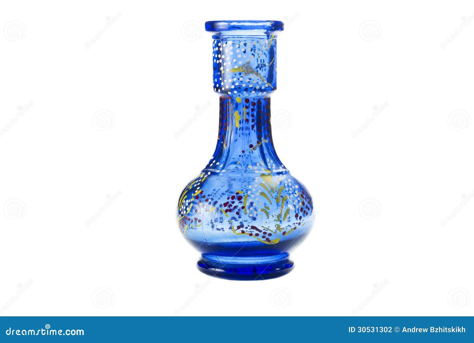 blue ceramic vases