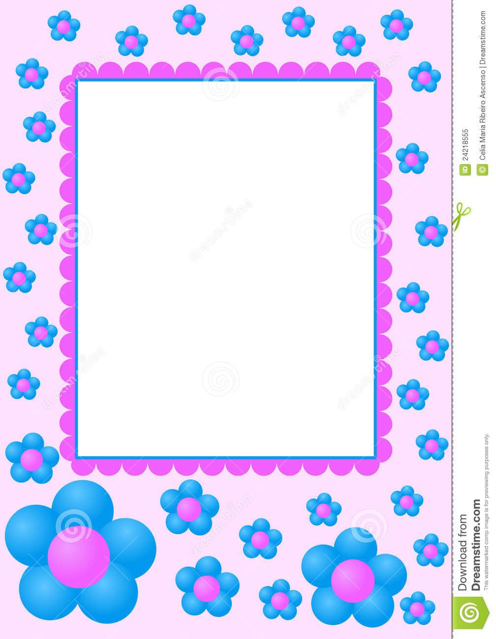 Invitation card ...Clipart Flowers And Butterflies Border