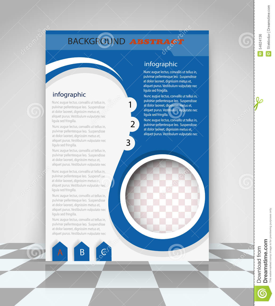 Blue flyer design stock vector illustration of leaflet for Background brochure templates