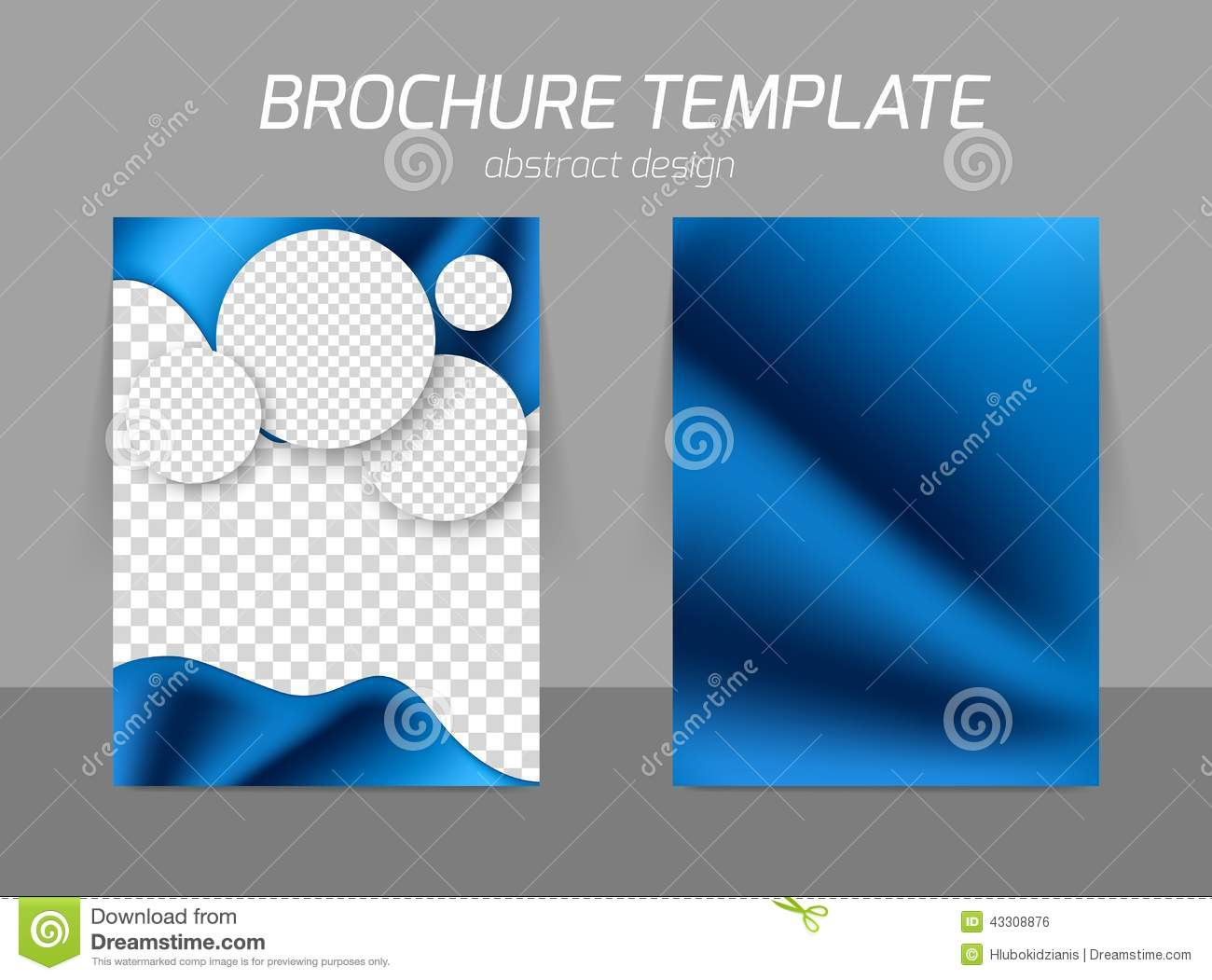 Blue Flyer Template Design Vector Image 43308876 – Blue Flyer Template