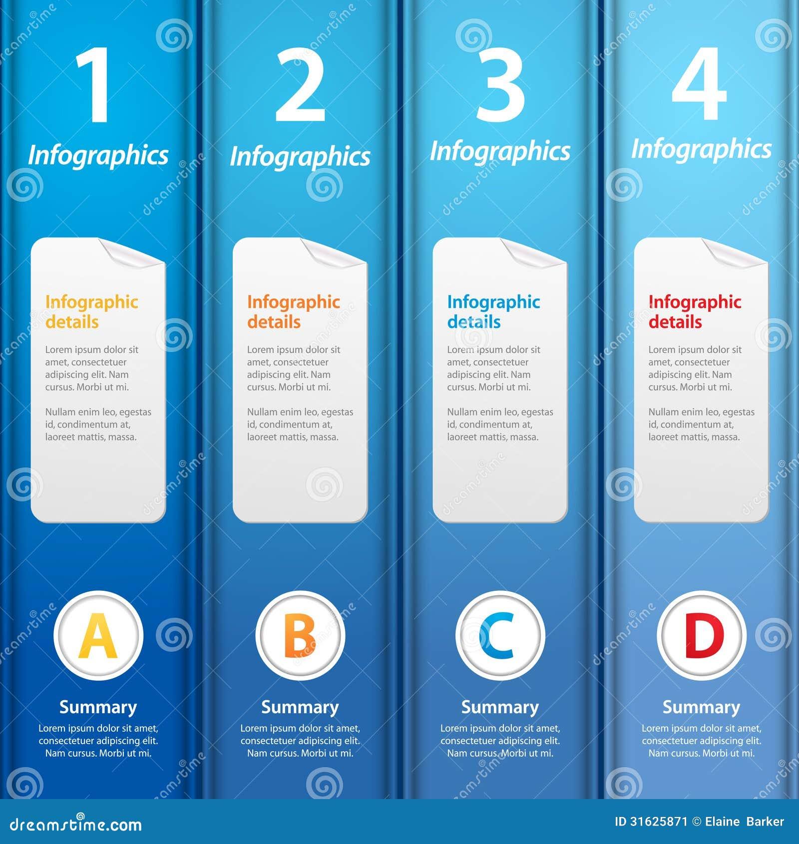 blue folders infographic stock image