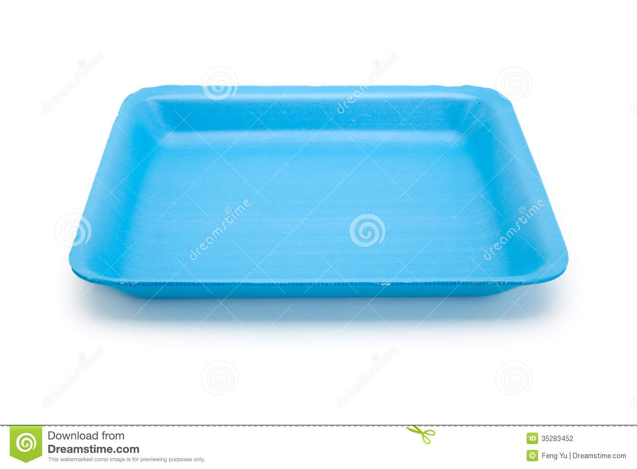 Blue Food Tray Stock Photography Image 35283452
