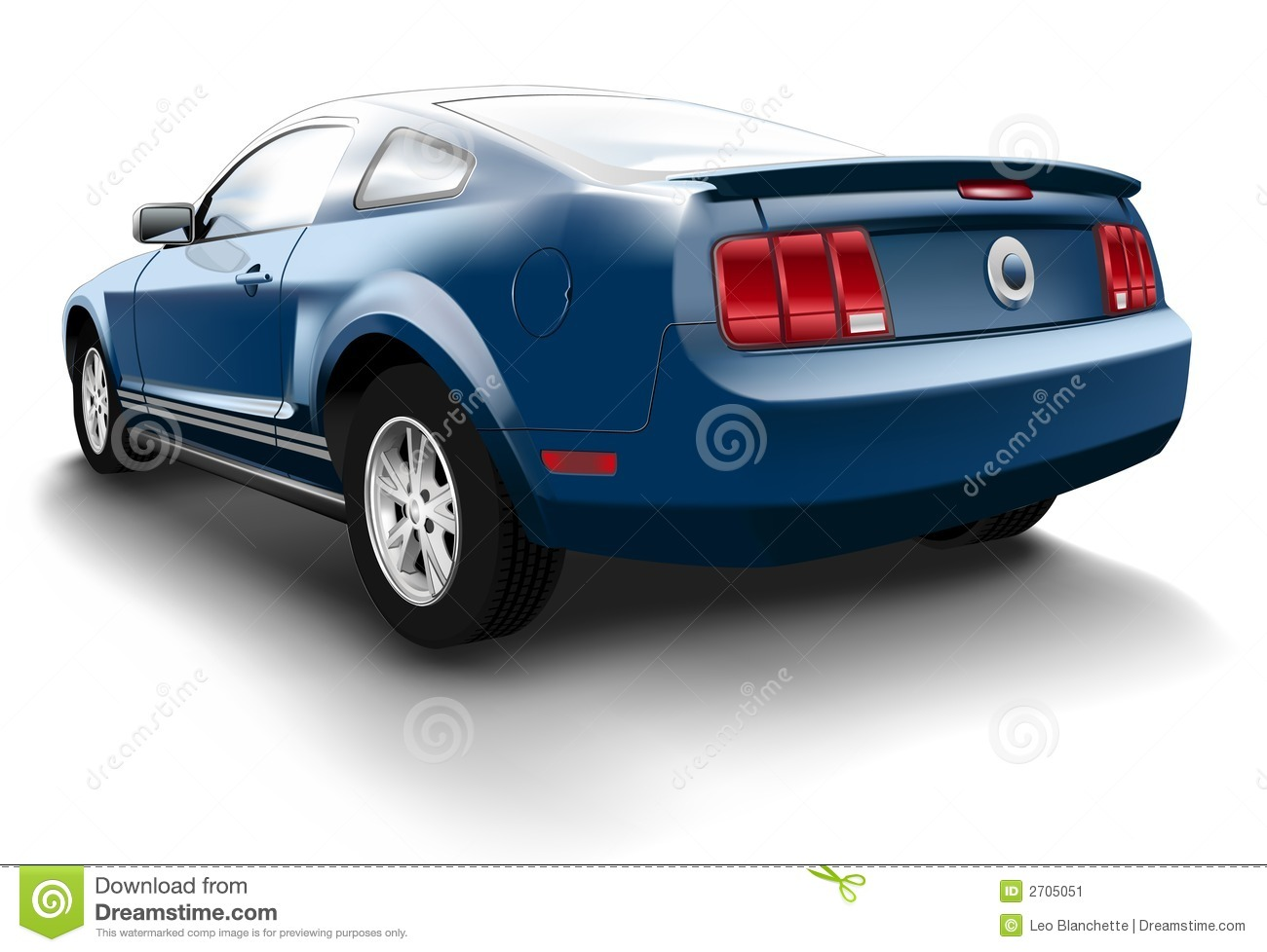 Blue Ford Mustang Stock Image Image 2705051