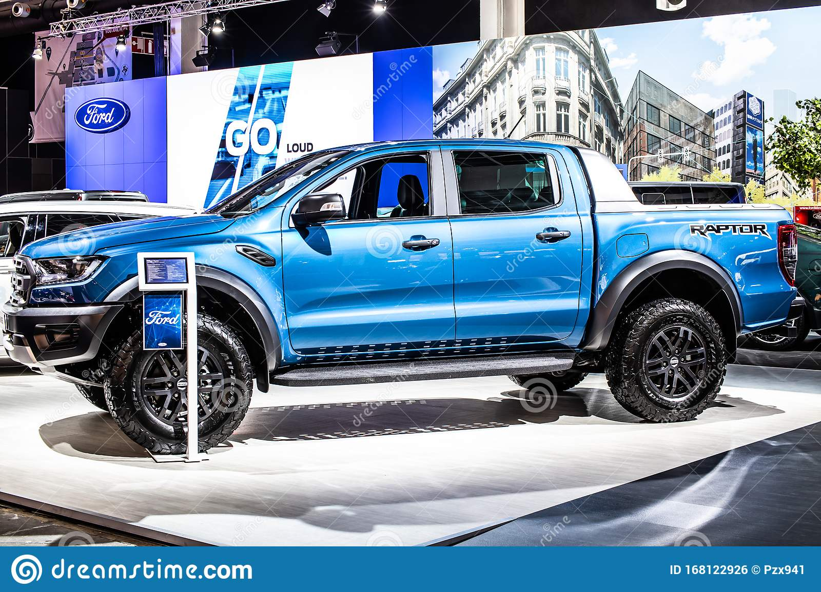 Blue Ford Ranger Iii Raptor Pickup Brussels Motor Show 3rd Gen Producido Por American Automaker Ford Motor Co Foto Editorial Imagen De Ford Producido 168122926