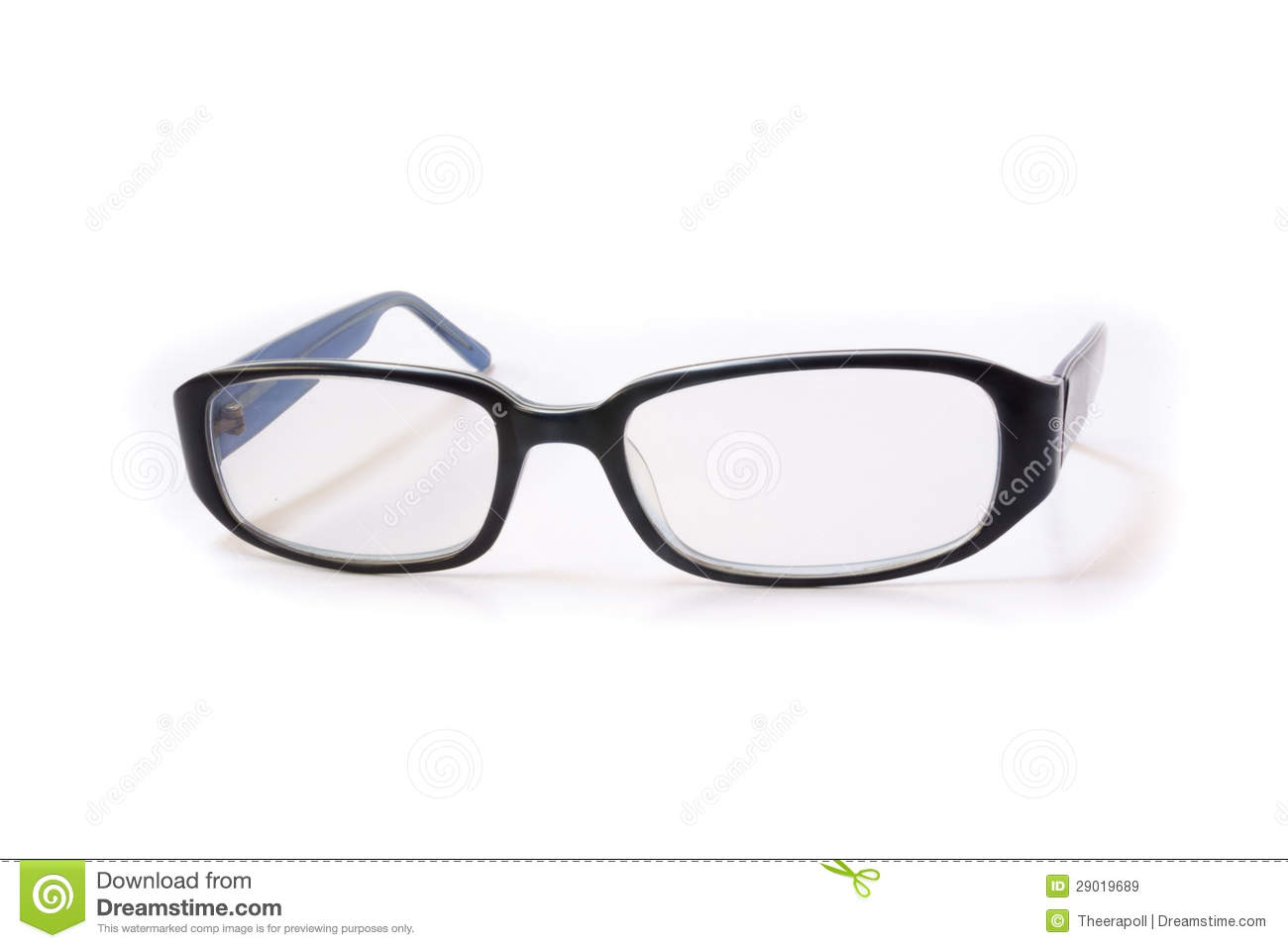 blue frame glasses royalty free stock images image 29019689