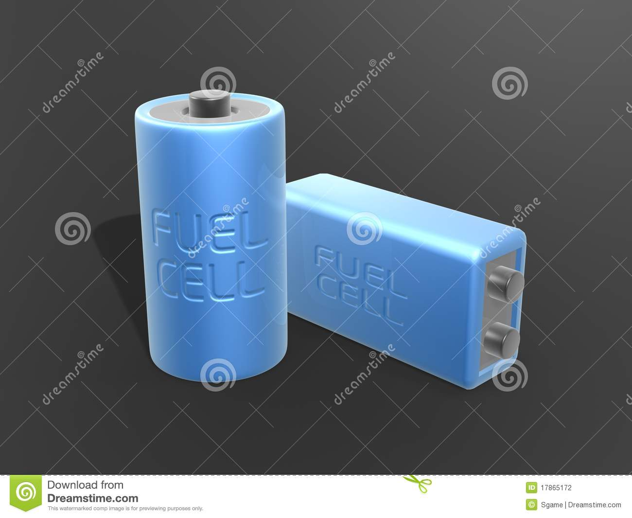 Blue Fuel Cell Battery Stock Photography Image 17865172