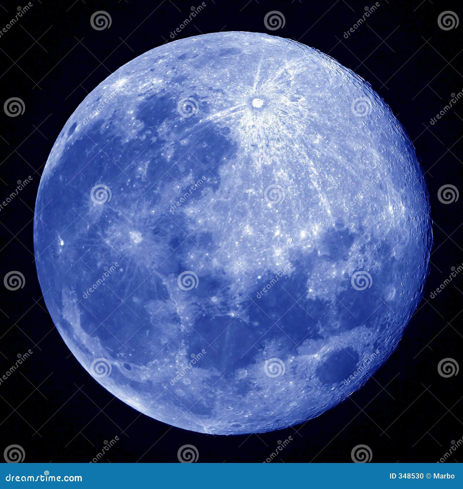 Blue Full Moon Stock Photo - Image: 348530