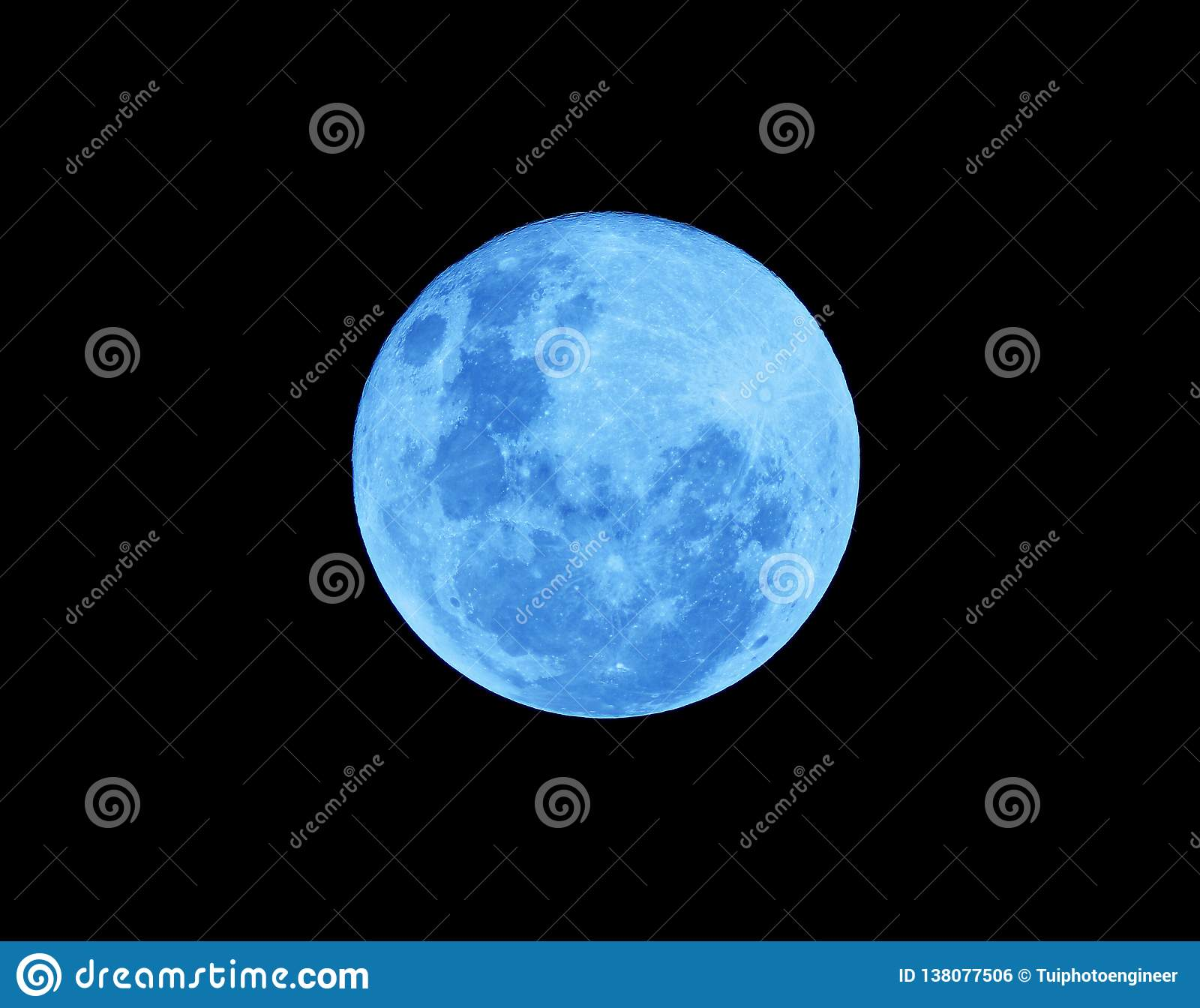 Blue Full moon on the dark night