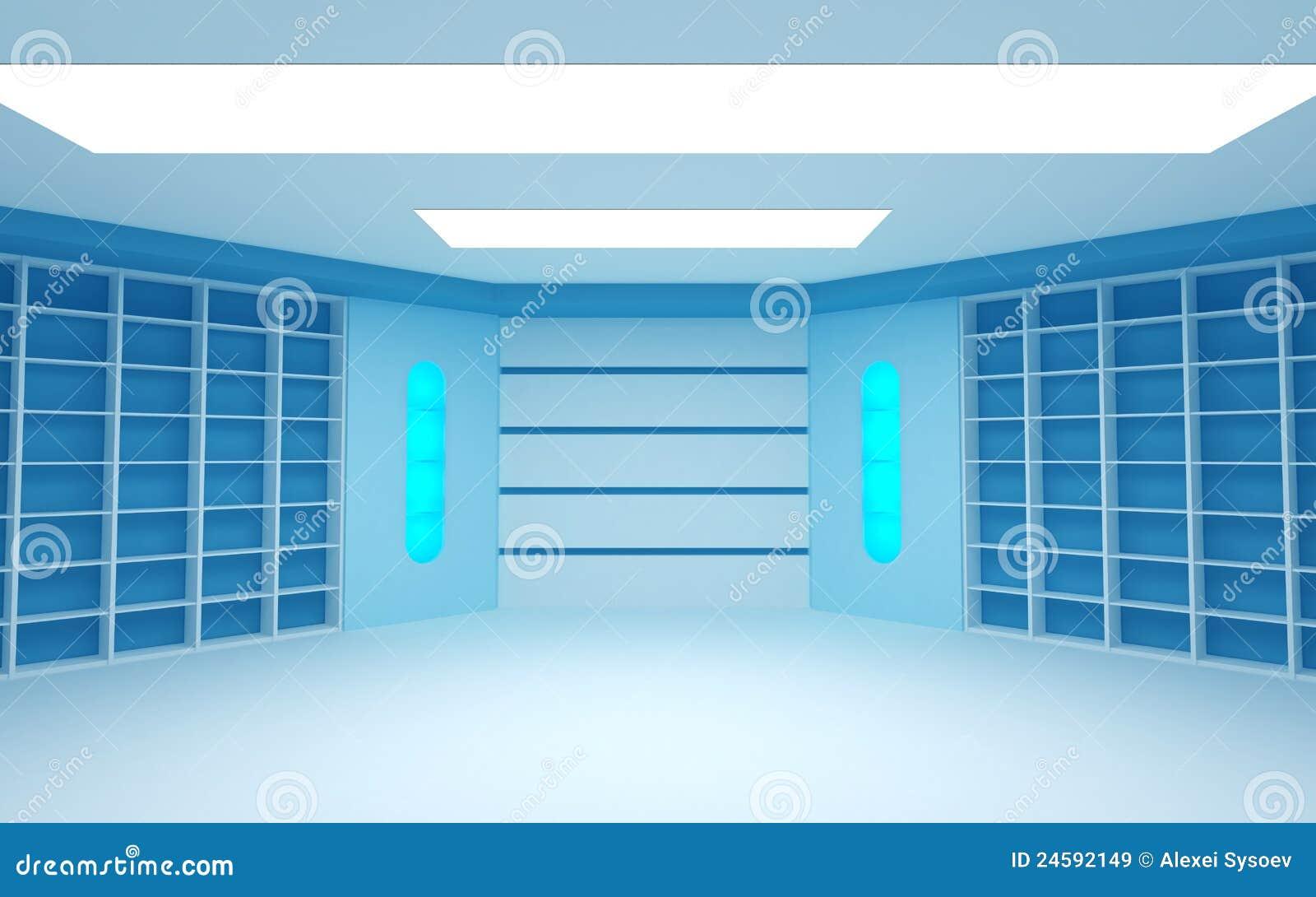 Futuristic Dark Room