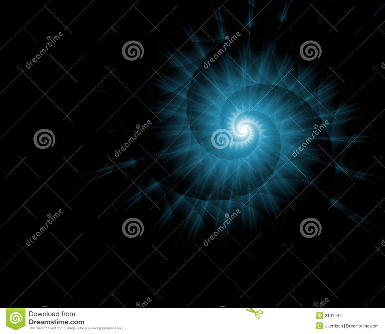 blue spiral galaxy abstract - photo #21