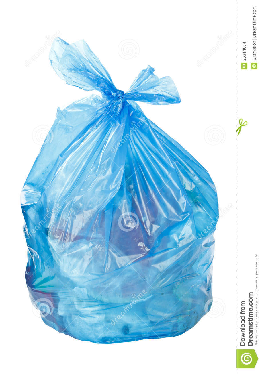 More similar stock images of ` Blue garbage bag `