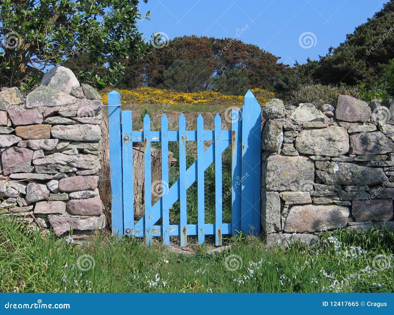 Blue Gate Royalty Free Stock Photo Image 12417665