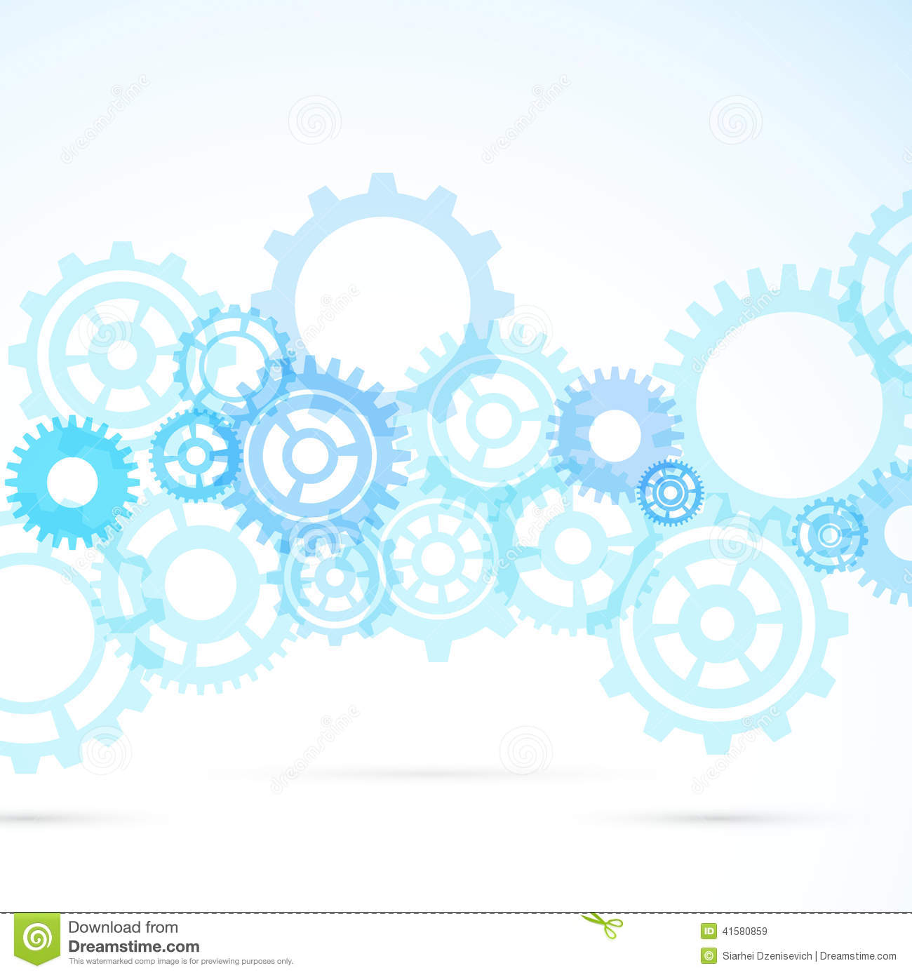 Blue Gear Abstract Modern Mechanical Background Stock
