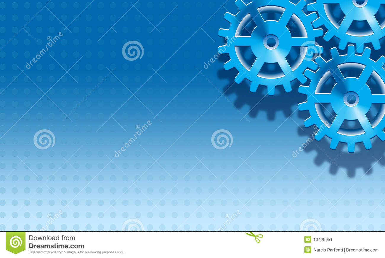 blue gears background stock image image 10429051