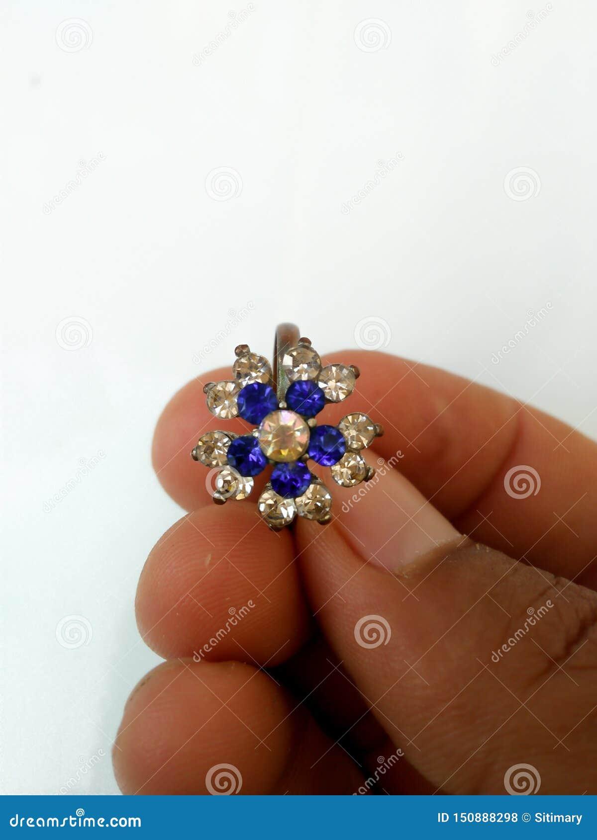 blue gem ring for beautiful women