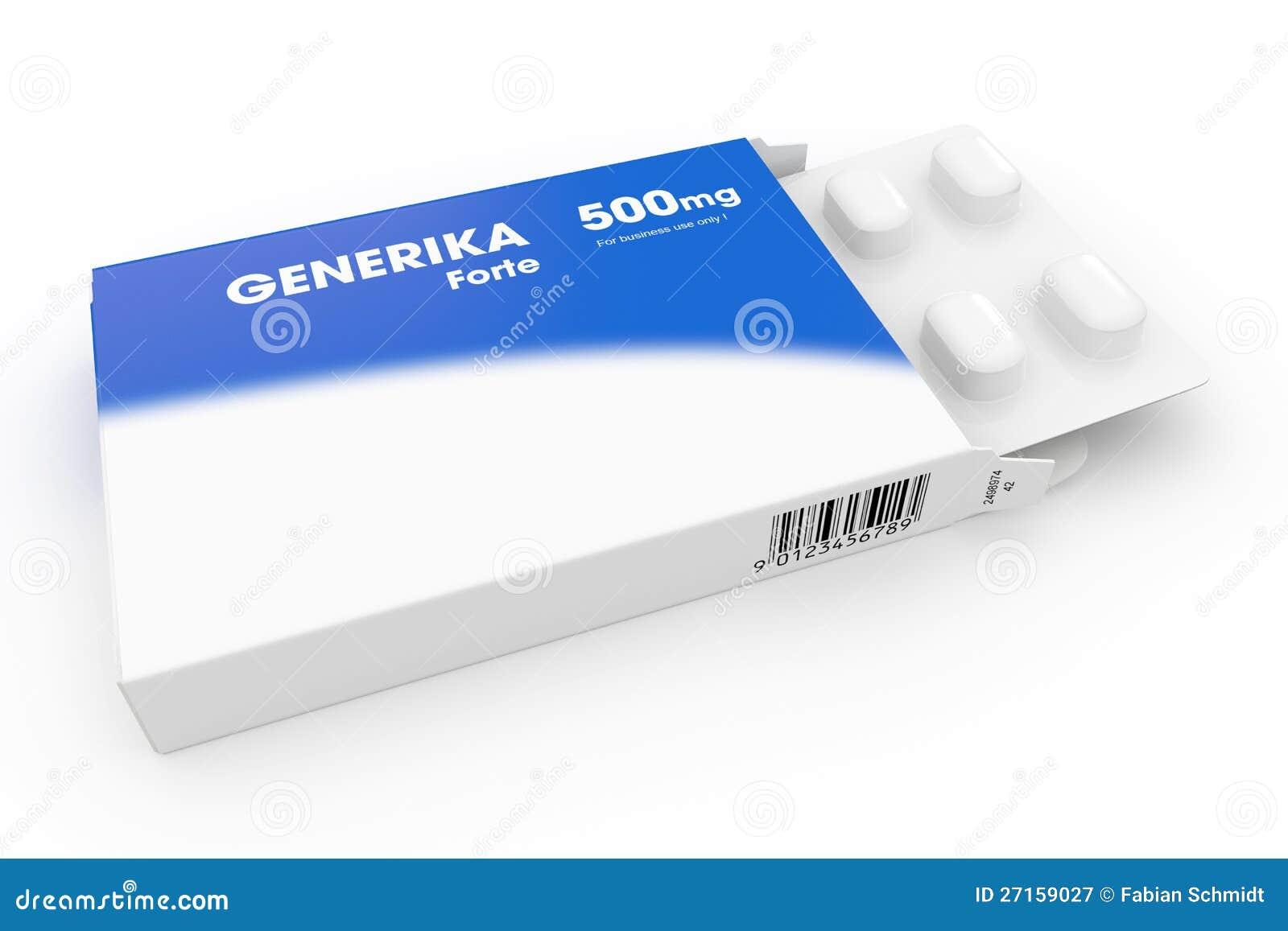 Blue Generika Medical Pill Box Royalty Free Stock Photography - Image ...