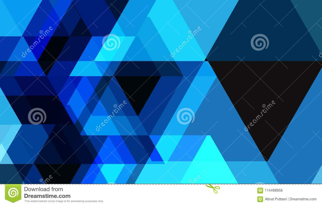 blue geometric shapes abstract future technology pattern vector