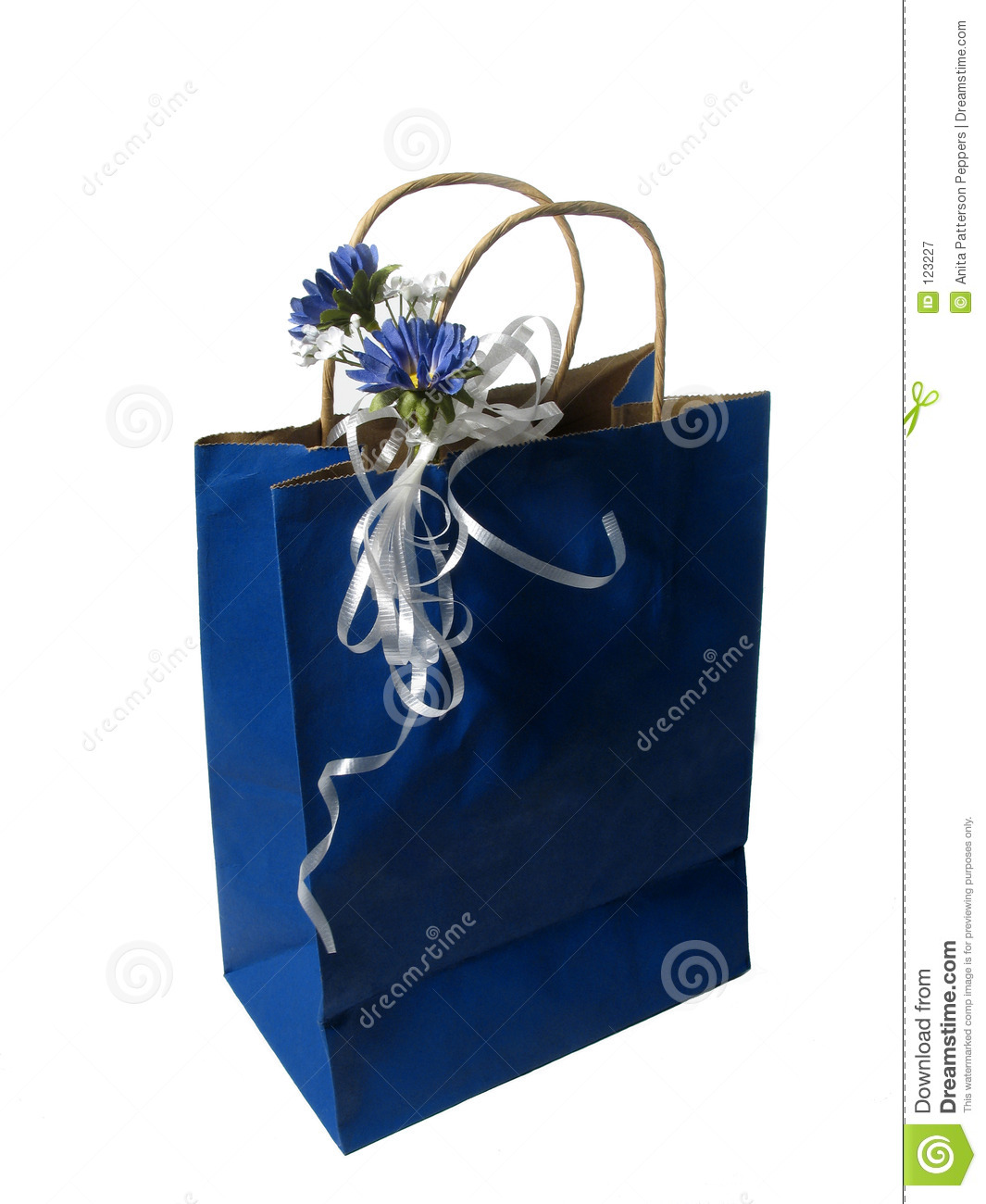 Blue Gift Bag Royalty Free Stock Photography - Image 123227