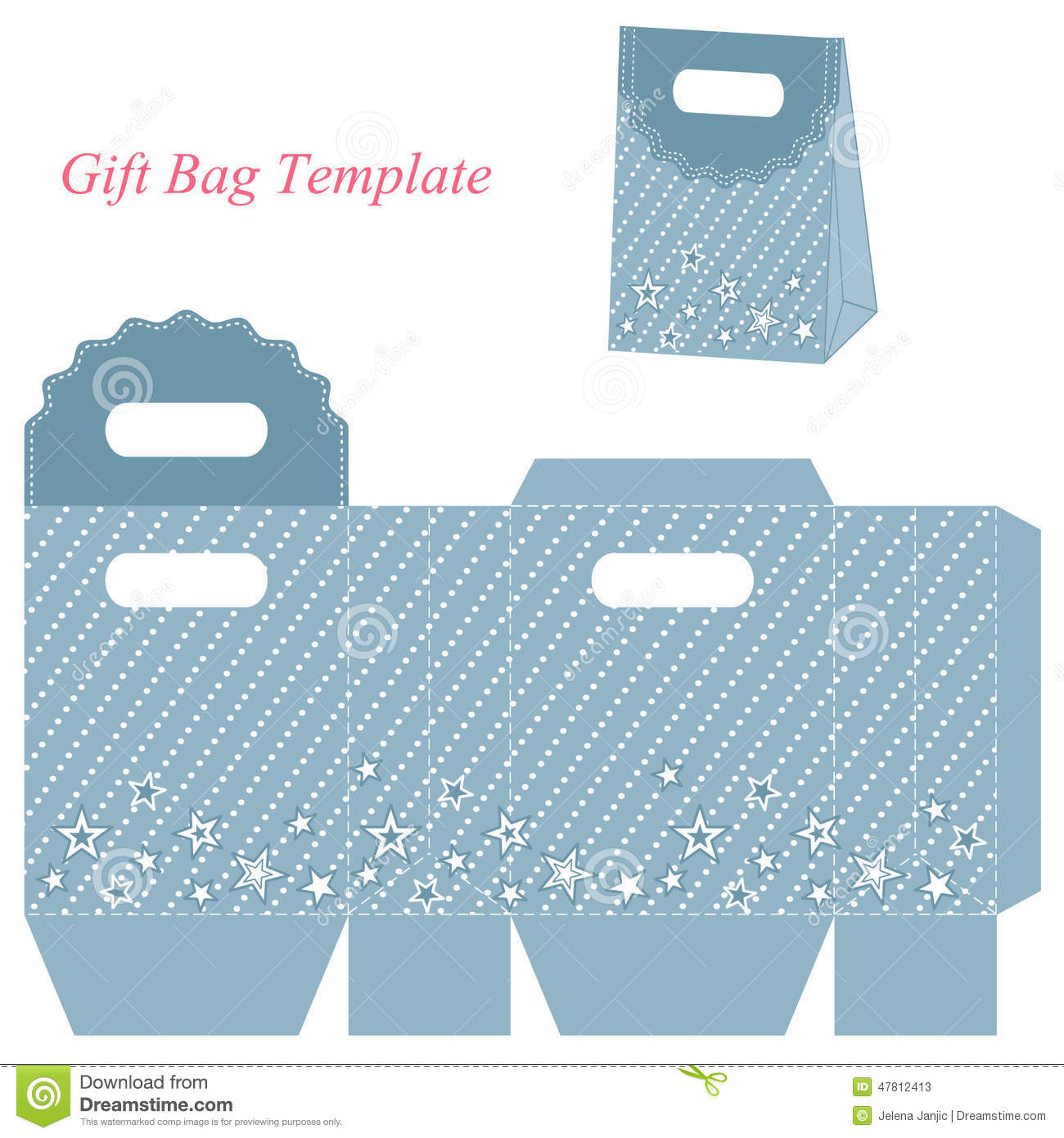 ... gift box with stars. Vector illustration of a box and box template