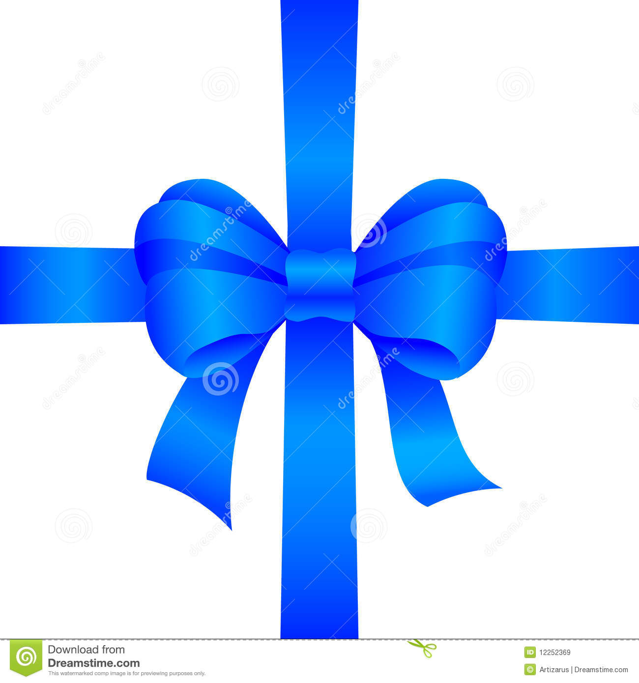 Blue Gift Bow Royalty Free Stock Images - Image: 12252369