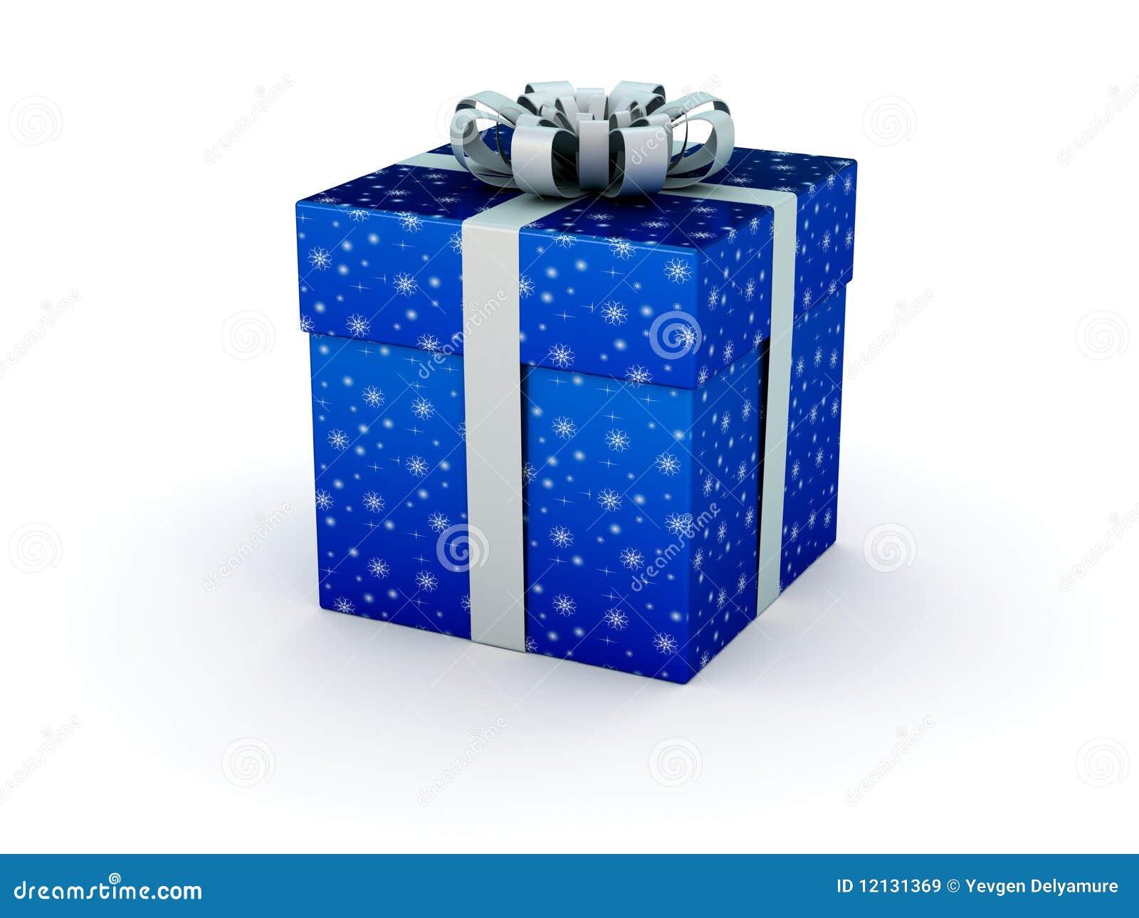 Blue gift box stock illustration image of xmas wrapped