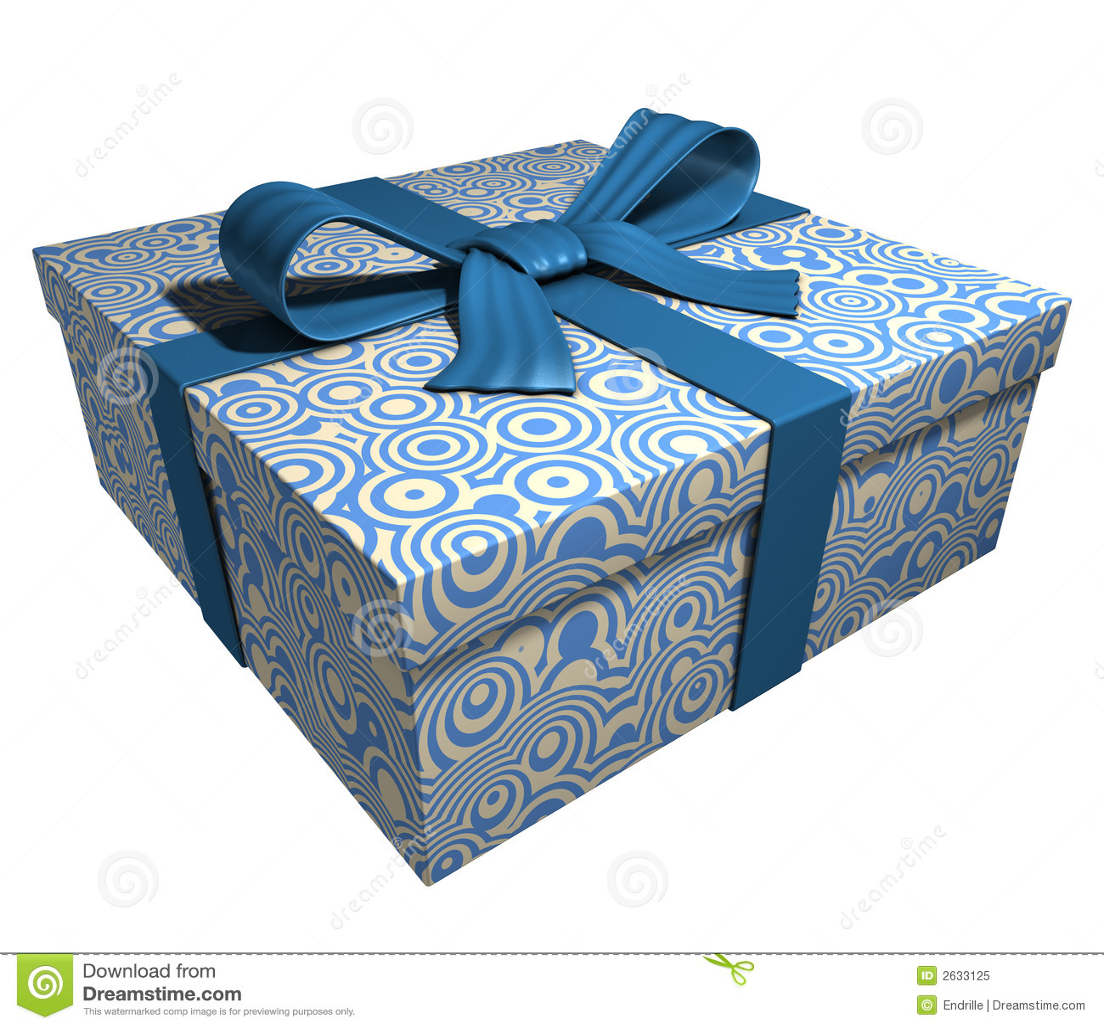 Blue gift box ribbon royalty free stock photo