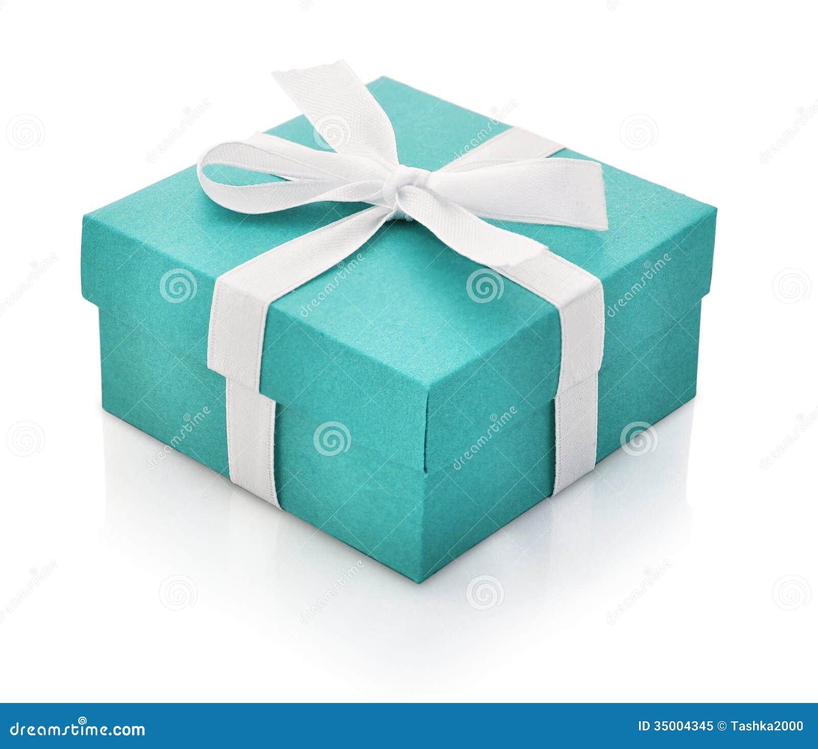 Blue gift box royalty free stock photo image