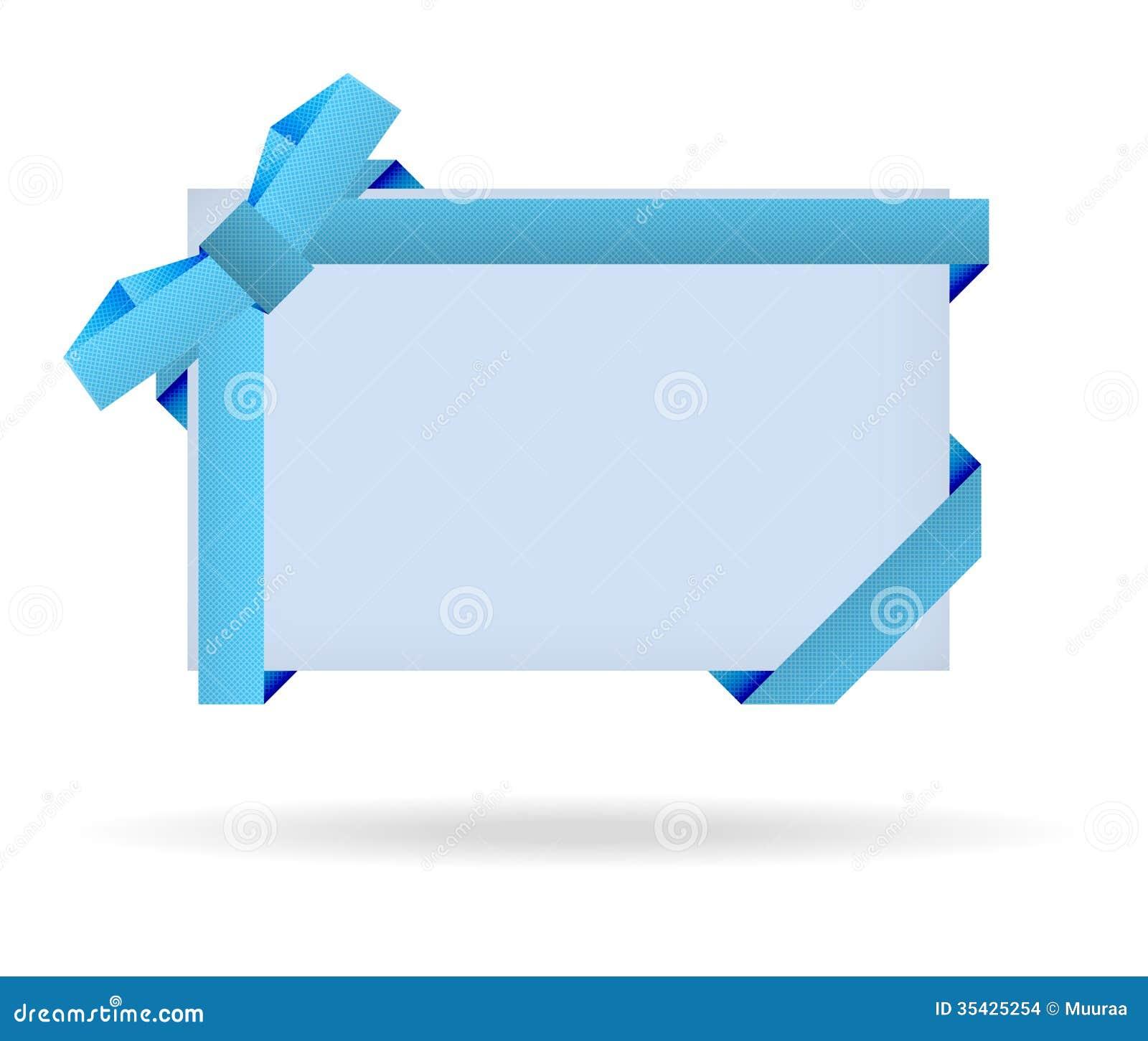 blue gift certificate border