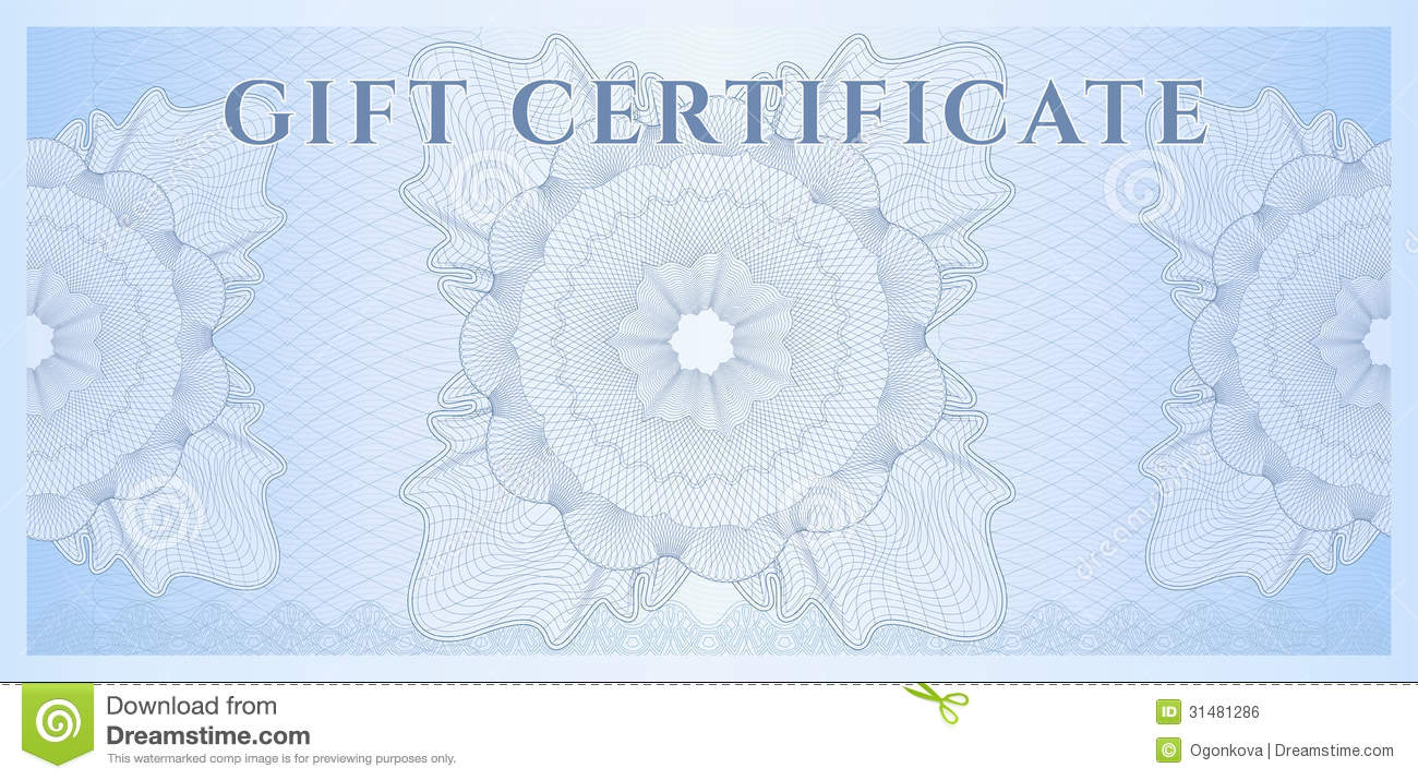 Blue gift certificate voucher template pattern stock vector blue gift certificate voucher template pattern yadclub Image collections