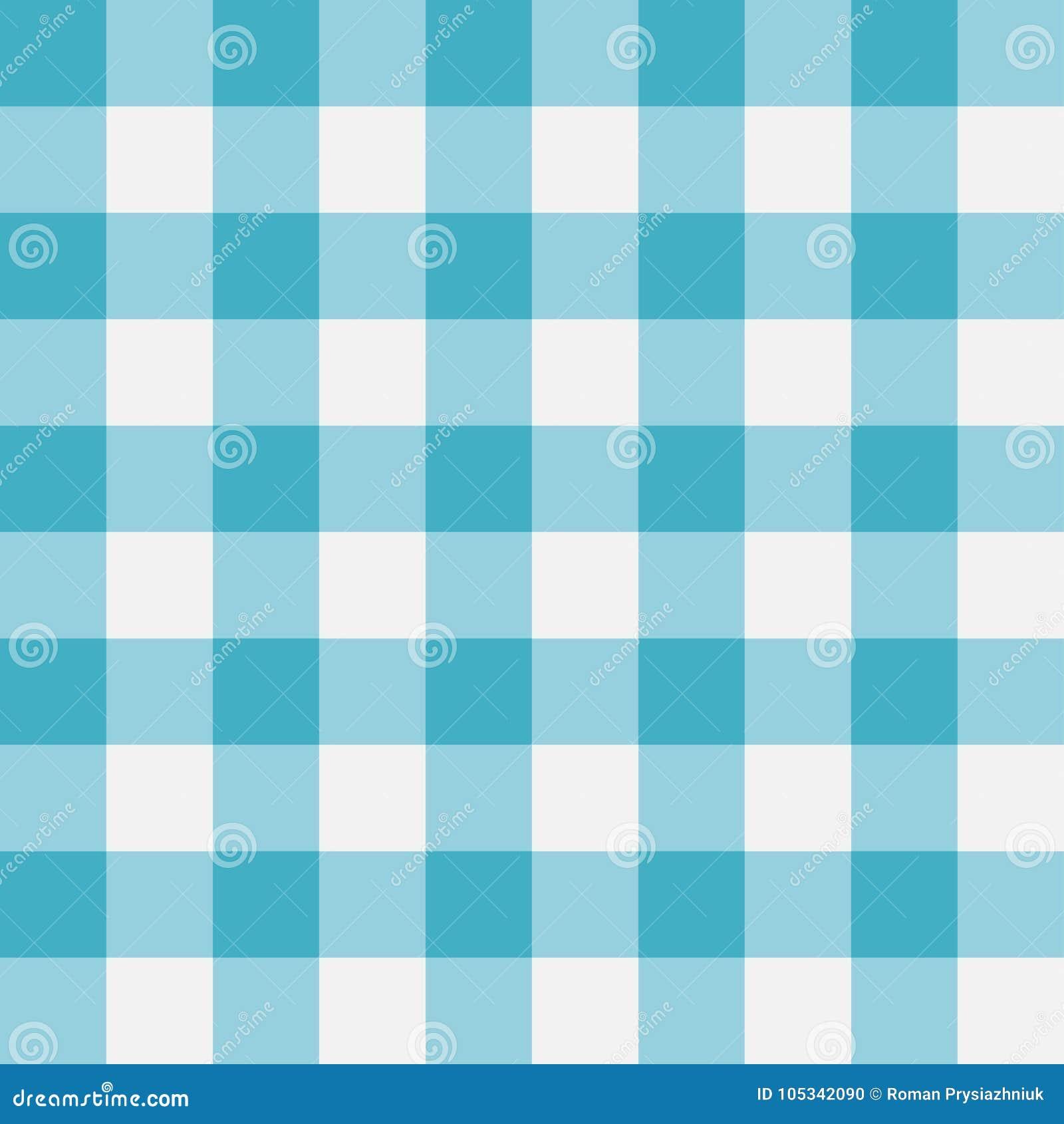 Blue Gingham seamless pattern. Perpendicular strips. Vector illustration.